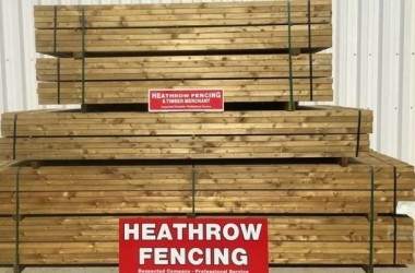 Fencing panels stack